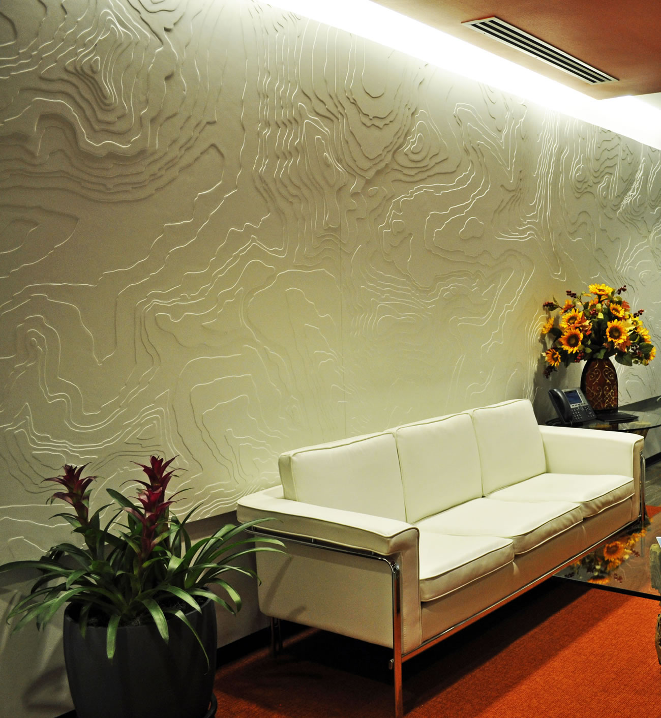 HDR Wall Detail and Seating Area Denver Colorado