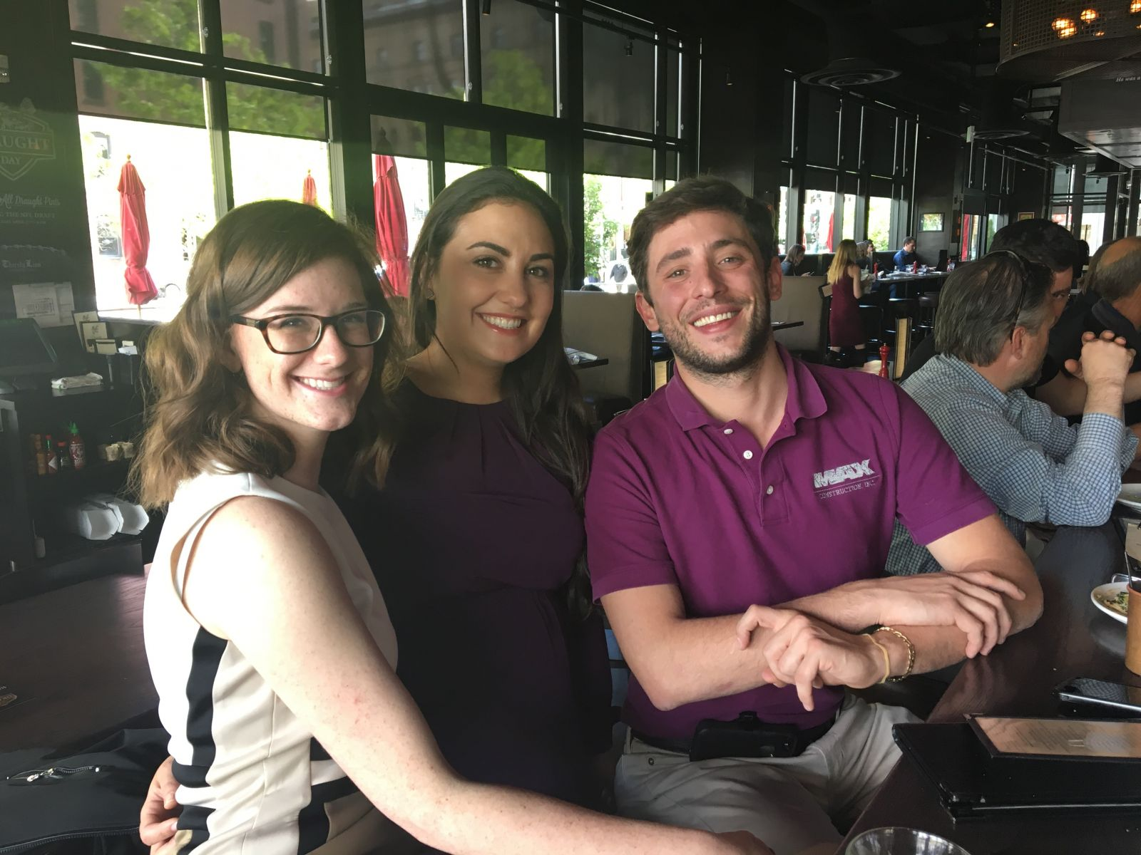 Jessa, Madlena and Jason at the MAX Construction Happy Hour