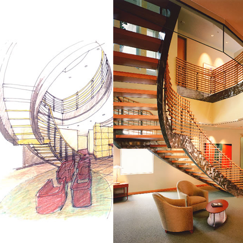 Plans for Staircase at Hutchinson