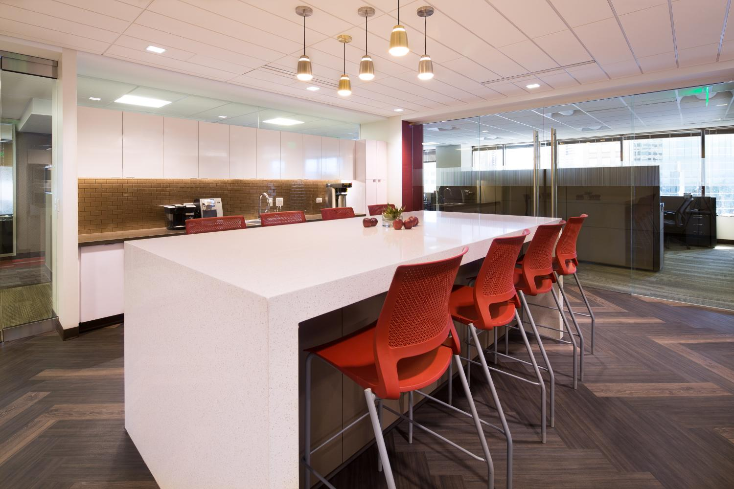Alden Torch Financial Break Room and Collaboration Area Commercial Construction Denver Colorado