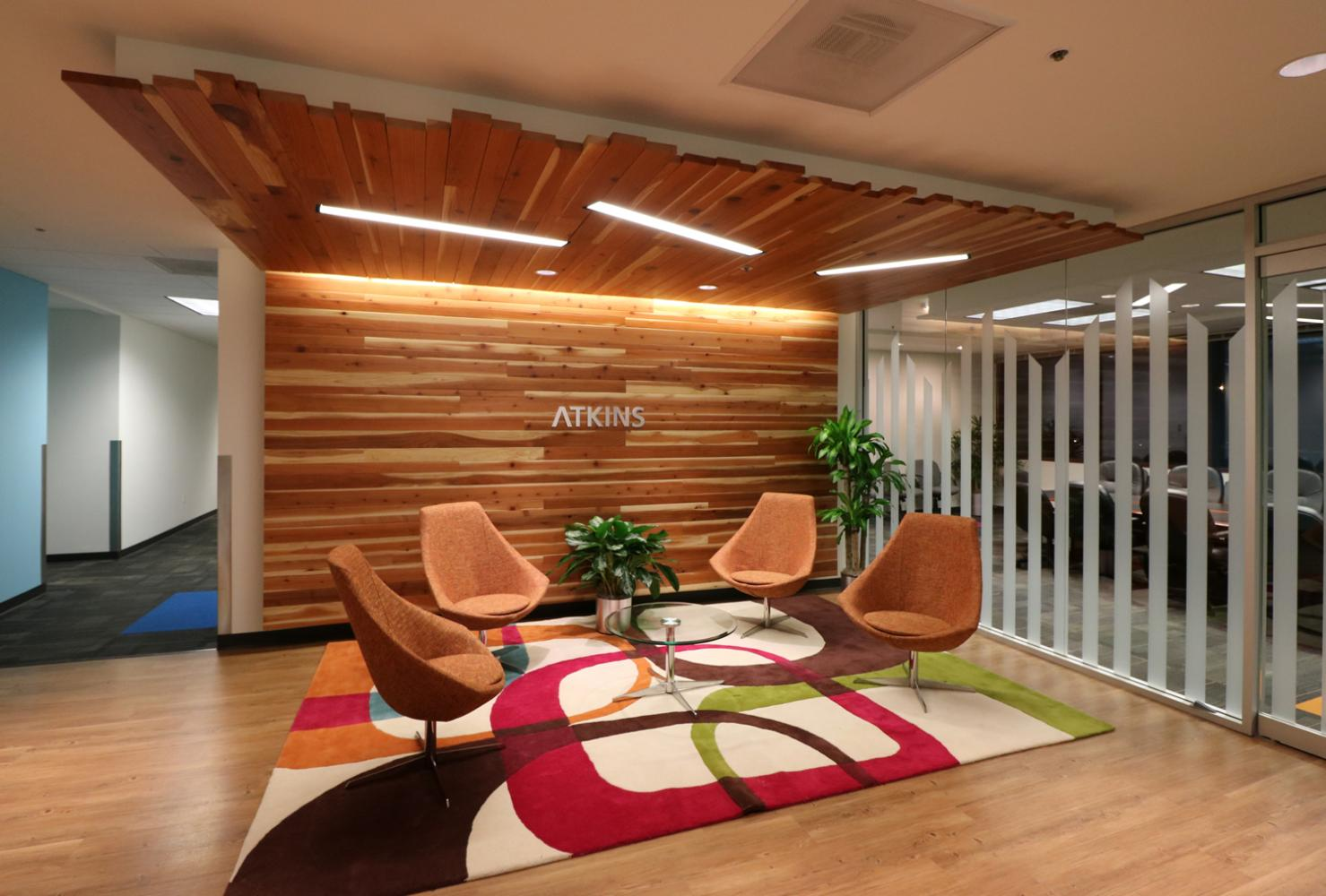 Atkins North America Lobby Seating and Conference Room Denver Colorado