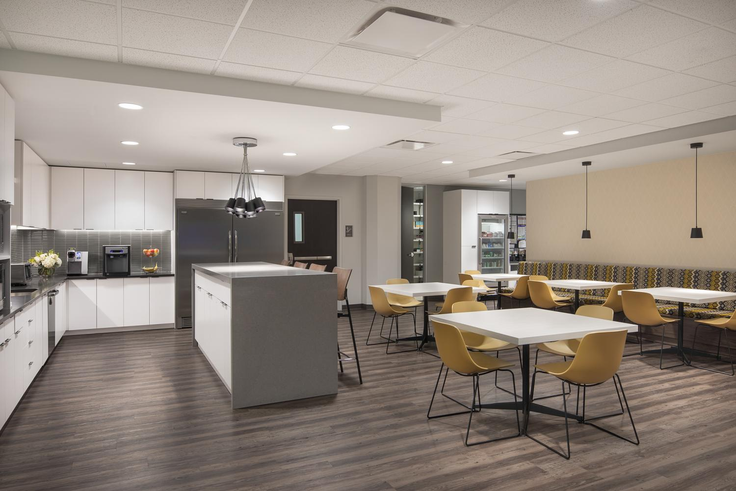 Caerus Oil and Gas Kitchen and Break Room Commercial Construction Denver Colorado