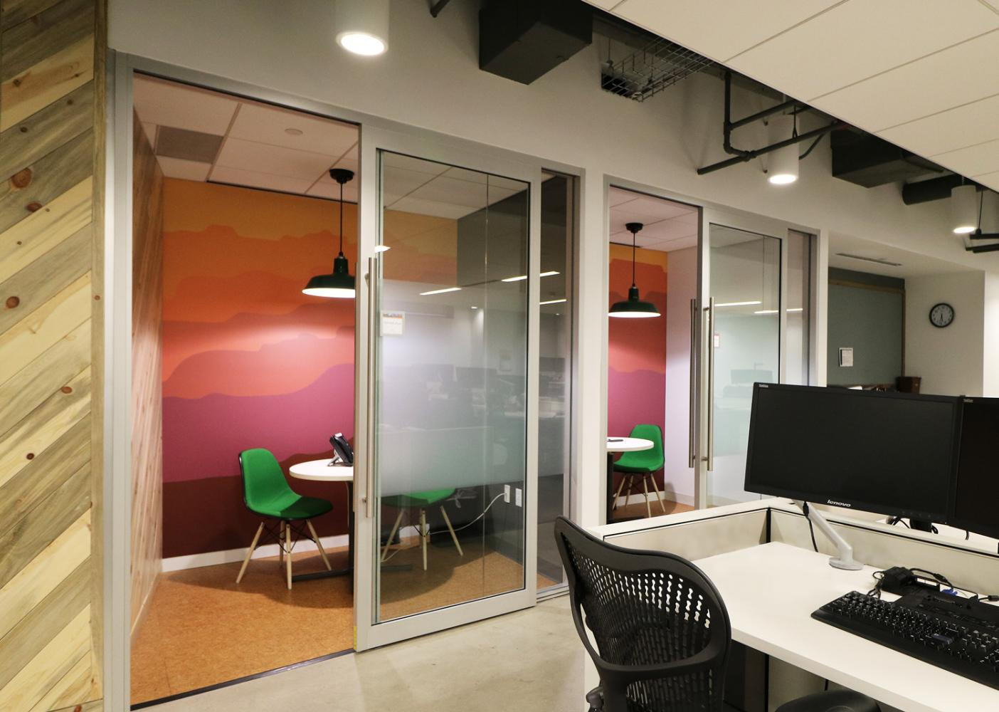 Expedia Collaboration Rooms Commercial Construction Denver Colorado