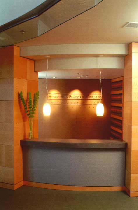 Hutchinson Black and Cook Reception Desk Commercial Construction Boulder Colorado