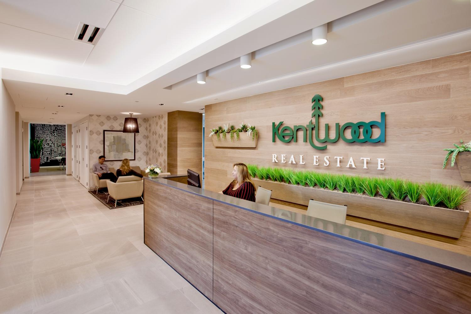 Kentwood Reception Desk Commercial Construction Denver Colorado