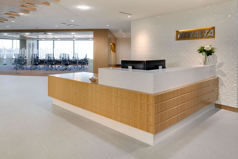 Newalta Reception Desk Commercial Construction Denver Colorado