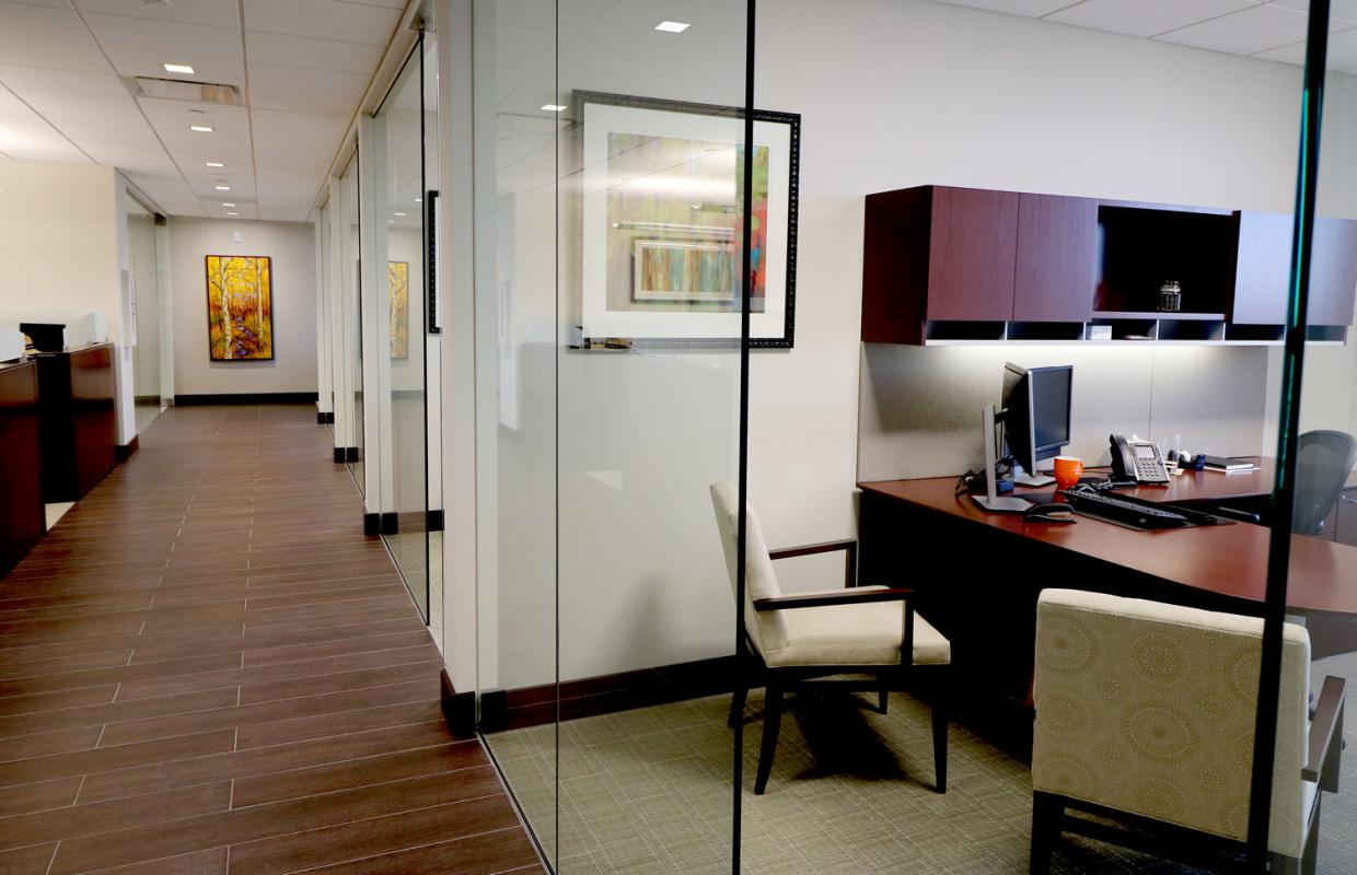 The Siegfried Group Hallway and Offices Denver Colorado
