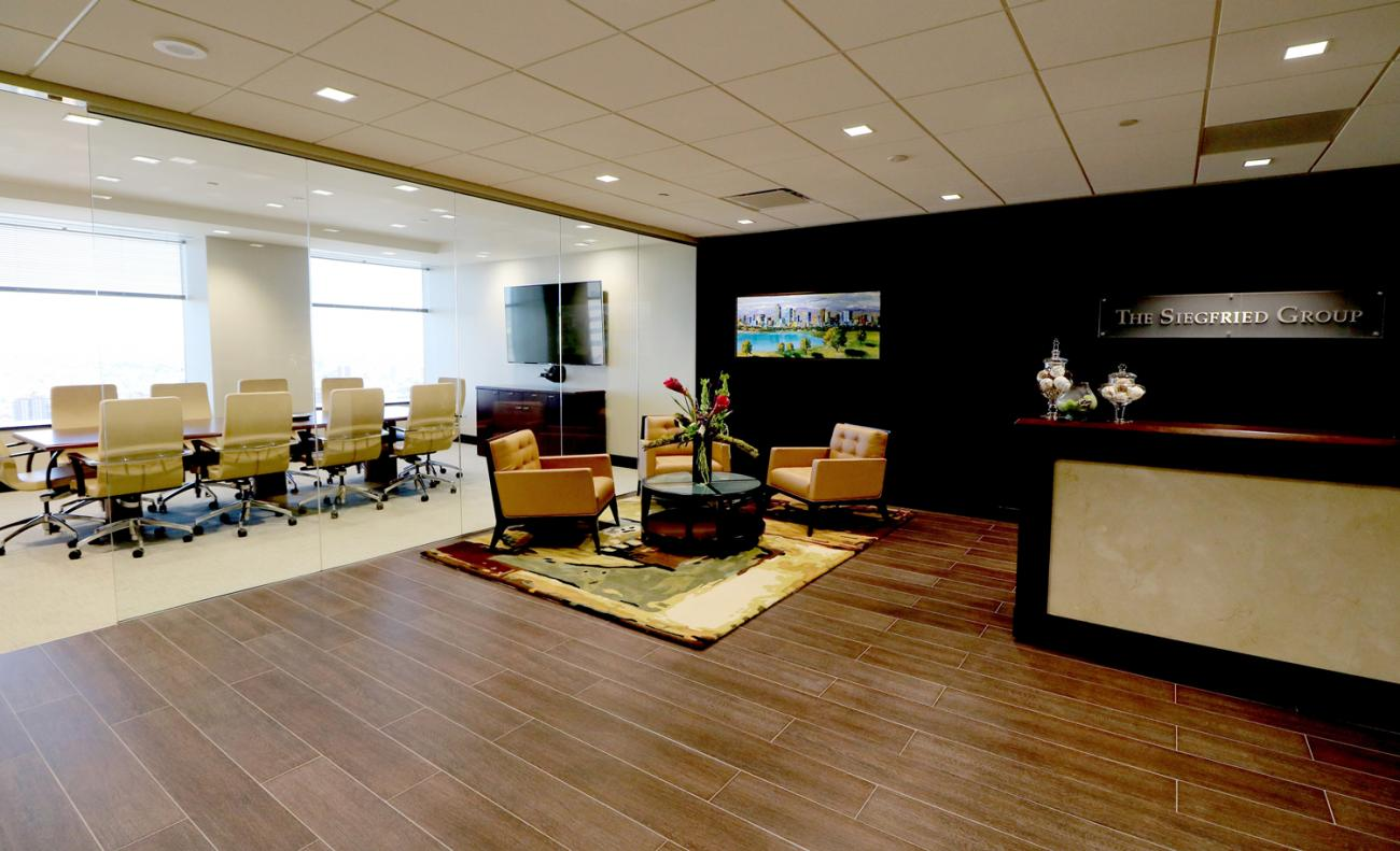 The Siegfried Group Lobby and Conference Room Denver Colorado