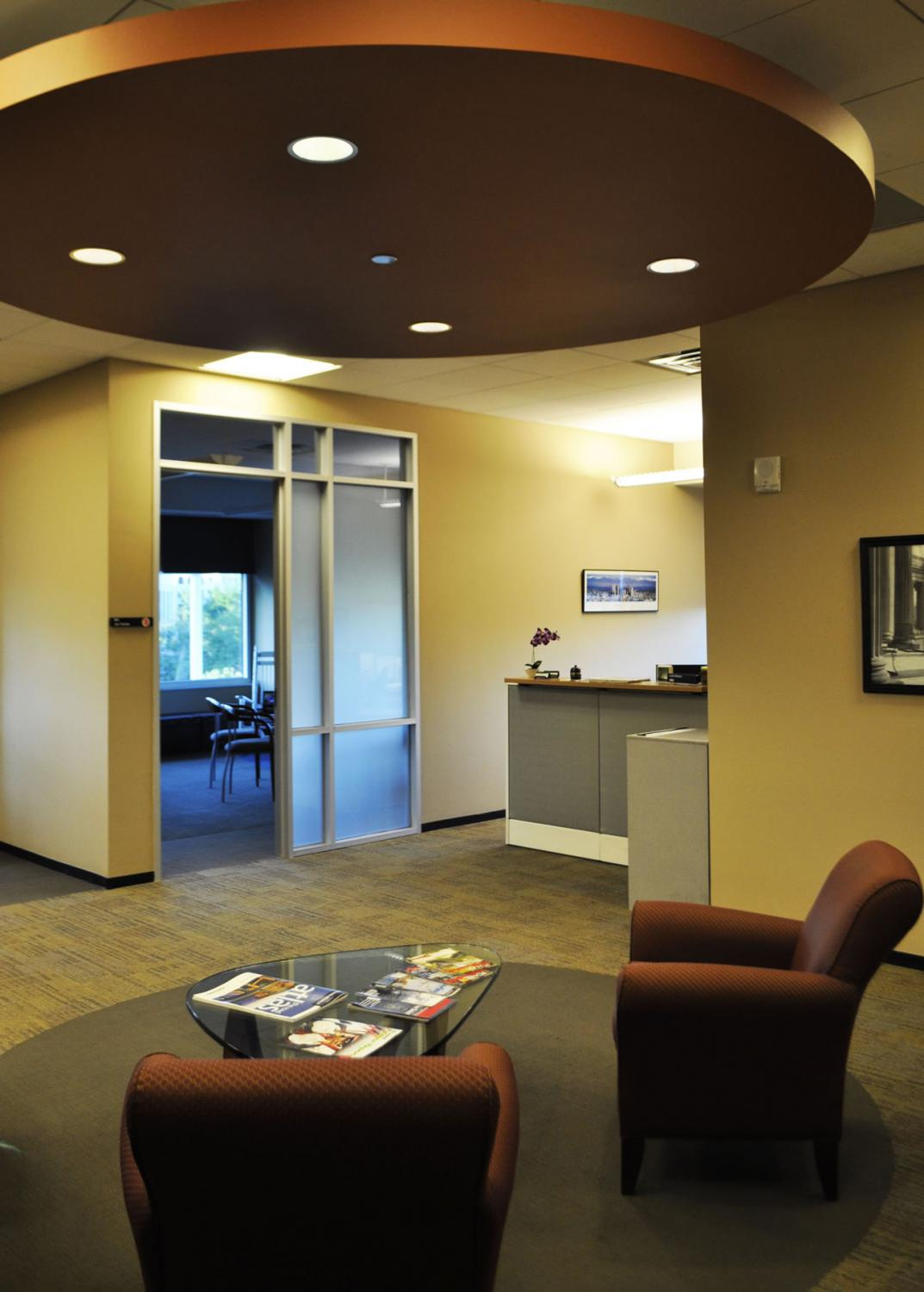 Zachry Engineering Seating Area and Overhead Light detail Denver Colorado