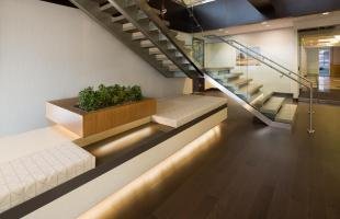 Alden Torch Financial Stairs and Planter Commercial Construction Denver Colorado