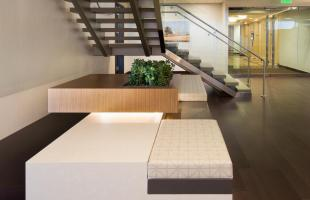 Alden Torch Financial Underside of Stairs and Planter Commercial Construction Denver Colorado
