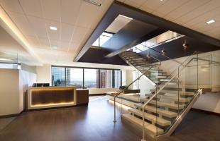 Alden Torch Financial Lobby And Stairs Commercial Construction Denver Colorado