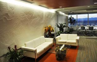 HDR Lobby Area with Couches and Conference Room In BackgroundDenver Colorado