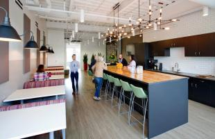 Kentwood Real Estate Break Room and Collaboration Area Denver Colorad Commercial Constructiono