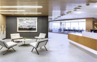Newalta Reception Area with Reception Commercial Construction Desk Denver Colorado