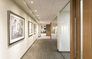 Newalta White Hallway And Offices Commercial Construction Denver Colorado