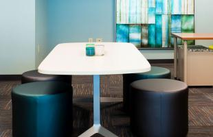 Professional Testing Collaboration Space with Blue Wall Denver Colorado