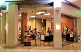 Treasured Creations Outside Glass and Pillers at Entrance Denver Colorado