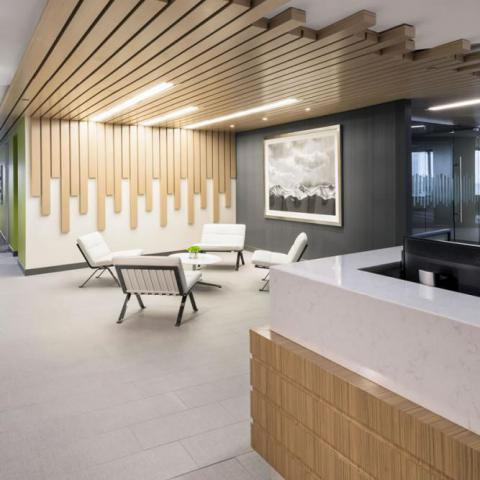 Newalta Reception Area Commercial Construction Denver Colorado