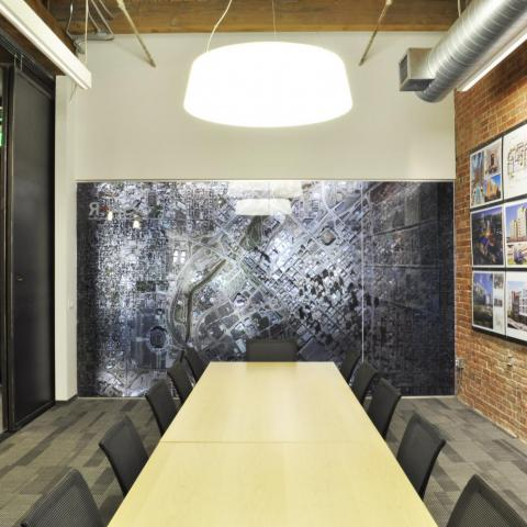SAR Conference Room Straight Shot to Graphic Wall Denver Colorado
