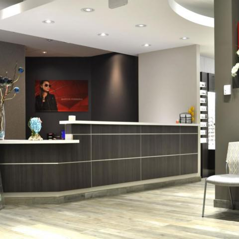 Vision Care Specialists Lobby and Reception DeskDenver Colorado