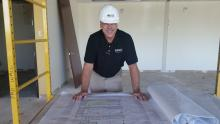 Rob reviews plans at Apple One Project Kickoff at 380 Interlocken in Broomfield